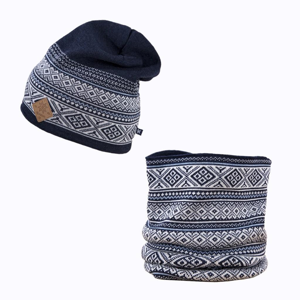 Set - pletená čepice KAMA A101 + nákrčník S19  2410f76427